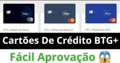NOVO Cartão de Crédito BTG+ Para SCORE BAIXO 2021